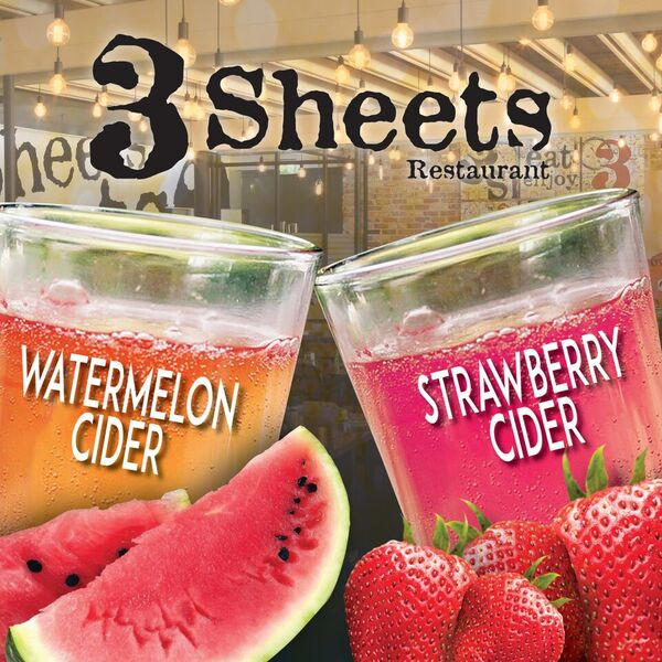 New! Watermelon and Strawberry Ciders on Tap